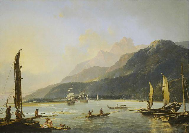 Resolution and Adventure in Matavai Bay (1776)