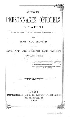 Quelques personnages officiels à Tahiti (1871)