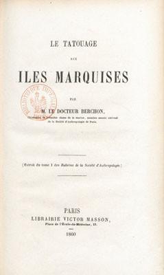 Le tatouage aux îles Marquises (1860)