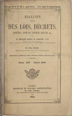 Rapport à l'empereur suite à une ordonnance de la reine Pomare, suivi de deux décrets (1868)