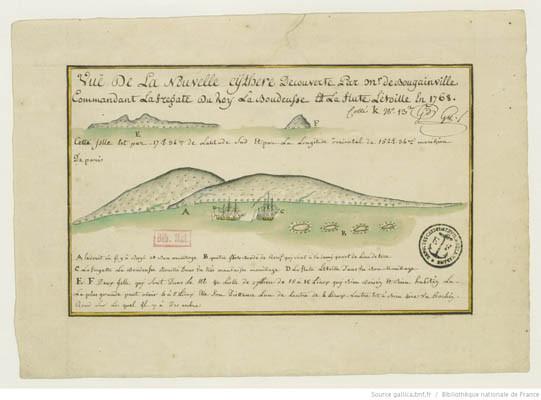 Vue de la Nouvelle Cythère découverte par Monsieur de Bougainville (1768)