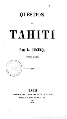 Question de Tahiti (1849)
