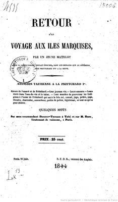 Retour d'un voyage aux îles Marquises (1844)