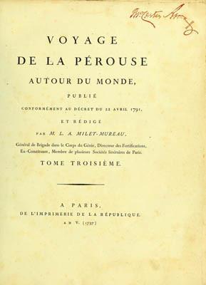 Voyage de La Pérouse autour du monde – Tome troisième (1797)