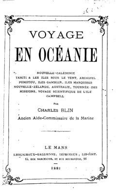 Voyage en Océanie – Charles Blin (Extrait)
