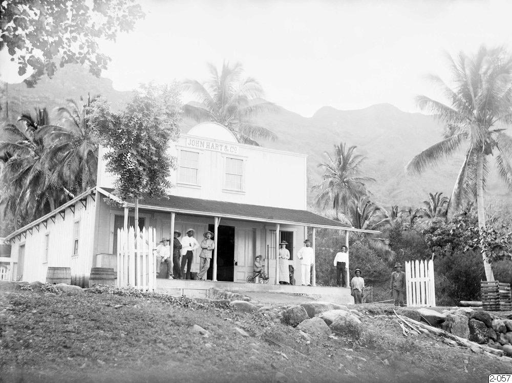 Etablissement John Hart & Cie à Nouka Hiva – Hjalmar Stolpe (1884)