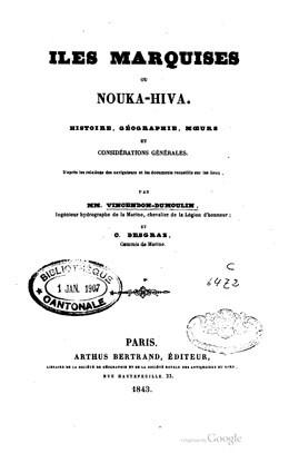 Iles Marquises ou Nouka-Hiva (1843)