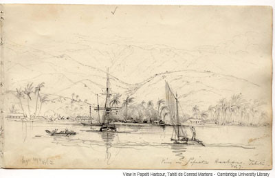 View in Papeiti Harbour, Tahiti (1834-1835)