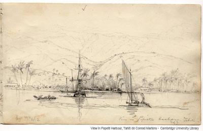 View in Papeiti Harbour, Tahiti (1834-1835)