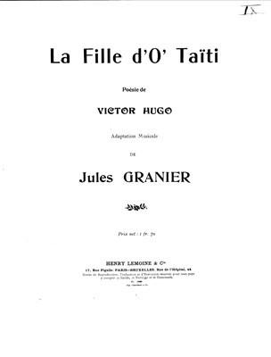 La fille d'O'Taïti – Poésie de Victor Hugo (1904)