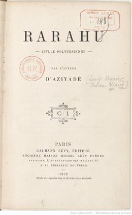 Rarahu – Idylle polynésienne – Pierre Loti (Extrait)