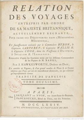 Relation des voyages pour faire les découvertes dans l'hémisphère méridional – Tome II (1774)