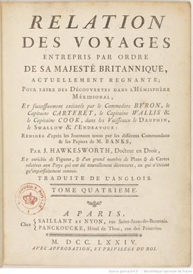 Relation des voyages pour faire les découvertes dans l'hémisphère méridional – Tome IV (1774)