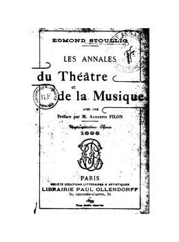 Les Annales du théâtre et de la musique – L'île de rêve (1898)