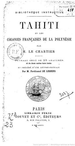 Tahiti et les colonies française de la Polynésie (1887)