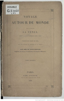Voyage autour du monde sur la frégate la Vénus 1836 – 1839 – Tome 1  (1840)