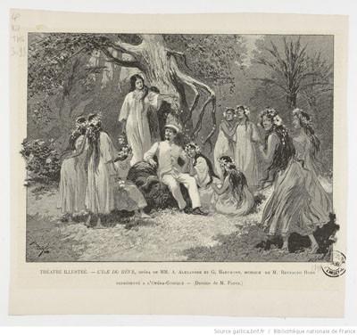 Illustrations de L'île du rêve (1898) – Théâtre