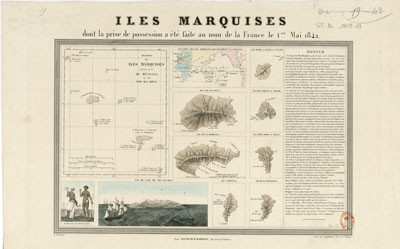 Îles Marquises dont la prise de possession a été faite au nom de la France (1842)