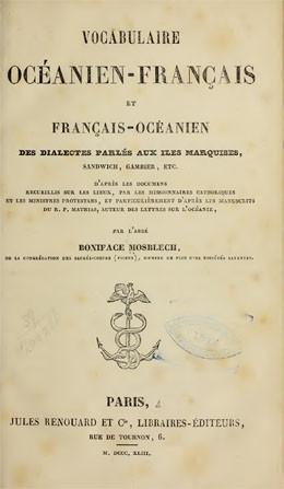Vocabulaire océanien-français (1843)