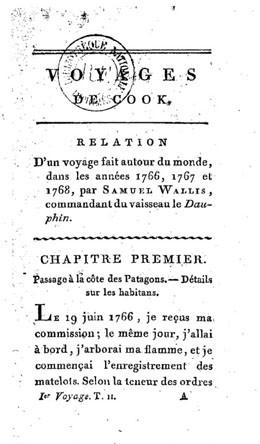 Relation d'un voyage fait autour du monde par Samuel Wallis (1817)