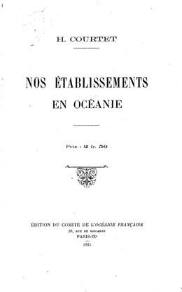 Nos établissements en Océanie (1911)