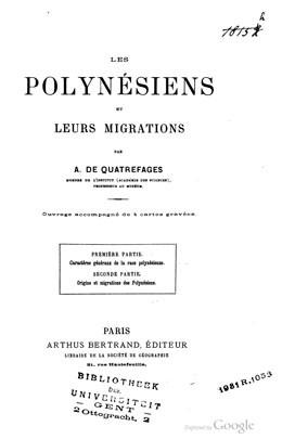 Les Polynésiens et leurs migrations (1843)