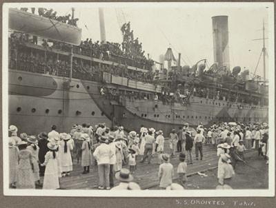 Escale du S.S. Orontes à Tahiti (1918)