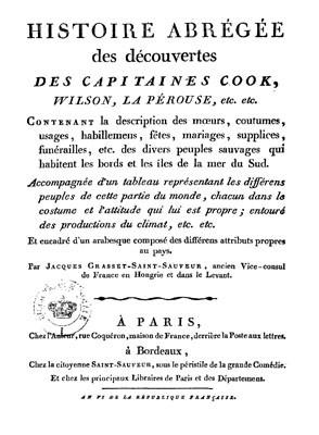 Histoire abrégée des découvertes des capitaines Cook, Wilson, La Pérouse, etc. (1797)