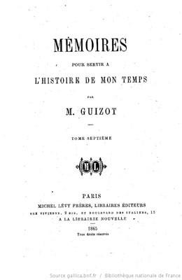 Les îles Marquises et Taïti (1841-1846) – Mémoires pour servir à l'histoire de mon temps – Tome VII (1865)