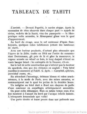 Tableaux de Tahiti (1927)