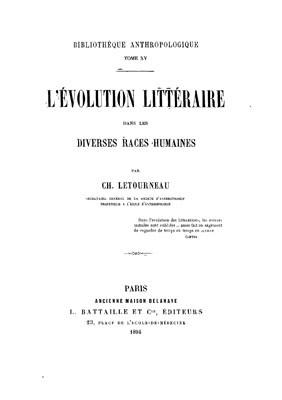 L'évolution littéraire dans les diverses races humaines – La littérature polynésienne (1894)