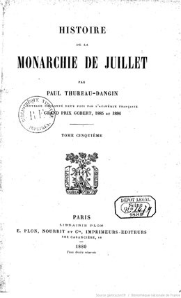 Histoire de la monarchie de Juillet – Tahiti et le Maroc – Tome 5
