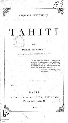 Esquisse historique de Tahiti (1886)