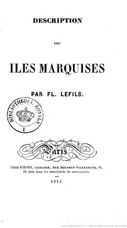 Description des îles Marquises (1843)
