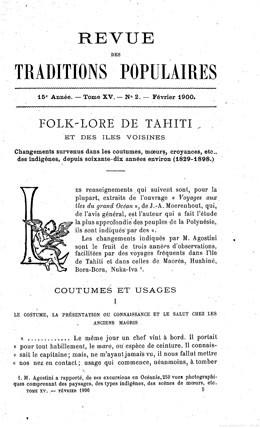 Folk-lore de Tahiti et des îles voisines (1900)