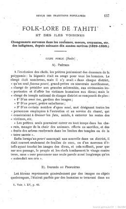 Folk-lore de Tahiti et des îles voisines – Partie II (1900)