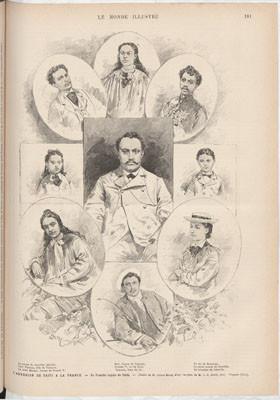 La famille royale de Taïti – Le Monde illustré (1880)