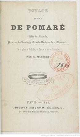 Voyage autour de Pomaré (1844)