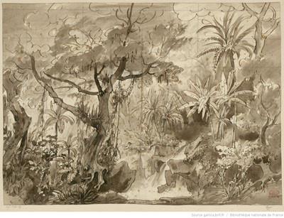 Ozaï : étude pour l'acte I, tableau 1 (1847)
