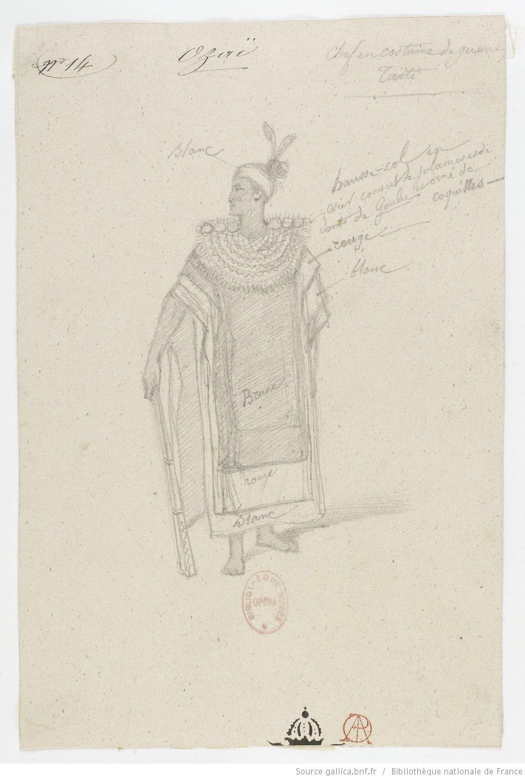 Costumes du ballet-pantomime Ozaï (1847)