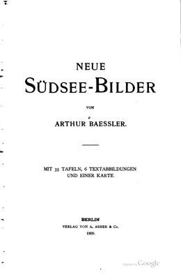 Neue Südsee-Bilder von Arthur Baessler (1900)