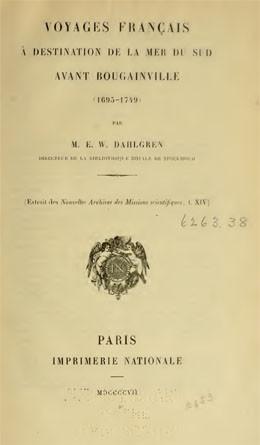 Voyages français à destination de la mer du Sud avant Bougainville (1907)