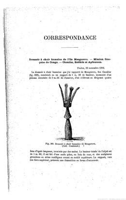 Dressoir à chair humaine de l'île de Mangareva (1885)