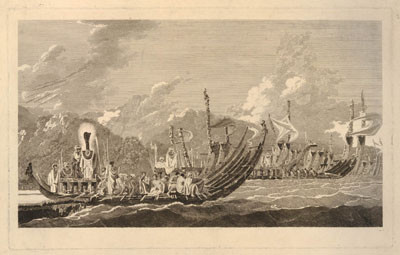 The fleet of Otaheite assembled at Oparee (1777)