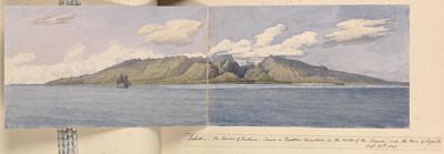 Tahiti – La vallée de la Fautaua – Le Diadème – Papeete – 24 août 1849