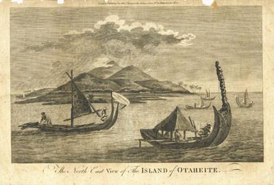 Vue du Nord-Est de l'île de Tahiti (XVIIIème)