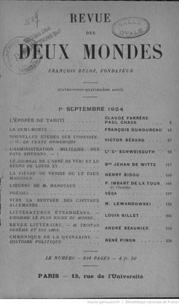 L'épopée de Tahiti (1924)