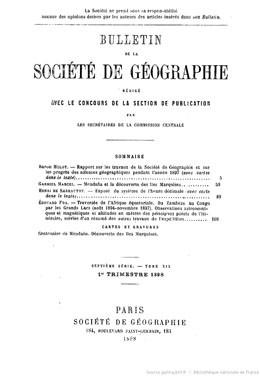 Mendana et la découverte des îles Marquises (1898)