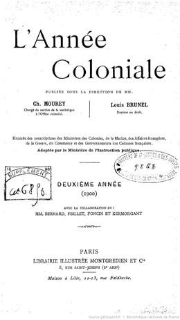 L'année coloniale – Etablissements français de l'Océanie (1900)
