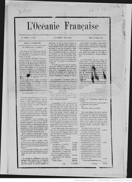 L'Océanie française du 10 juillet 1883